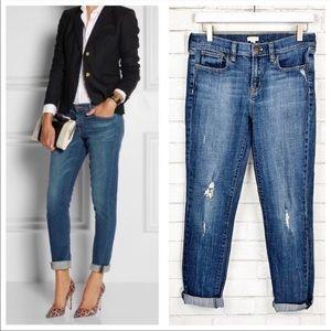 J Crew Distressed Skinny Jeans Sz 28